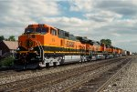 BNSF 972, GE C44-9W, First group of GE repainted New GE's, westbound on Conrail ELBNA