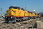 UP 6574, 6576, GE C44AC, new at the Proviso Shop