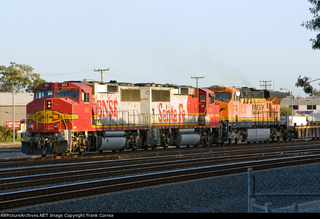BNSF 101, 149 and 7753