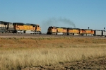 BNSF trains meet at the old Reno Jct