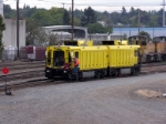 Harsco Track Grinder heading to work at north end of yard.
