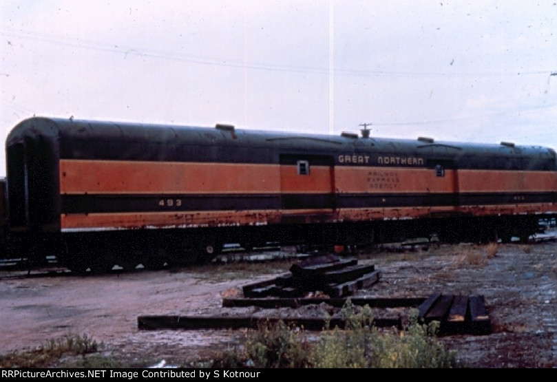 Great Northern baggage at Northtown MN in 1974
