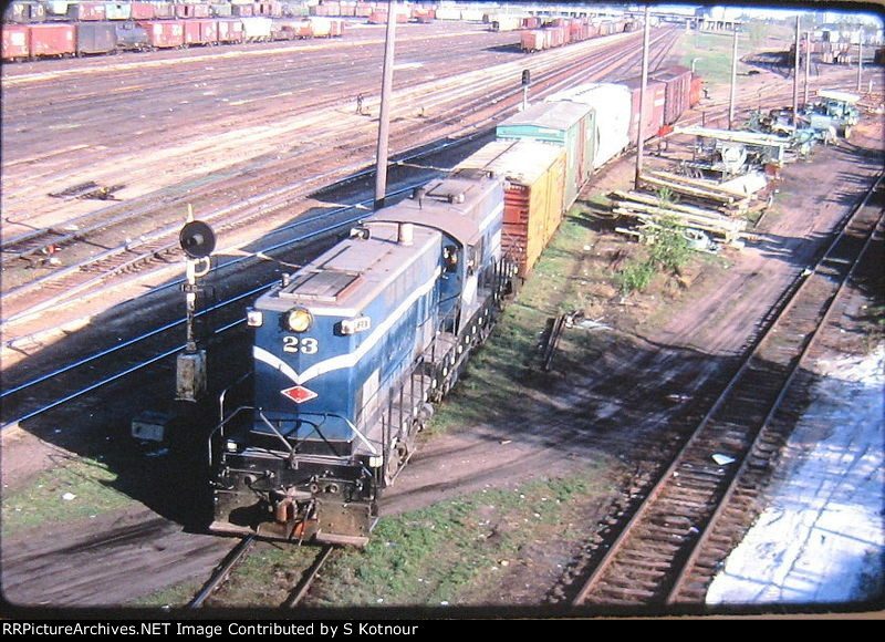 MNS Baldwin center cab at Northtown NP Mpls yard in 1969.