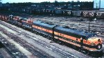 Great Northern ore train at Minneapolis MN Union Yard in 1967.