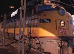 Milwaukee Road passenger train at the Mpls MN Milwaukee depot in 1968.