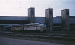 CB&Q at the Mpls MN Great Northern depot in 1965.
