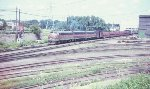 Great Northern train headed from Mpls yard at University of MN to Wazata in 1967.