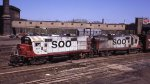 Soo Line alcos at the Mpls GN depot in 1972.