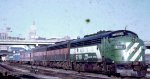 The Empire Builder headed to Chicago at St Paul Union Depot in 1970.