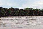 water at 32 feet Bridge from Sunbury to Island Park