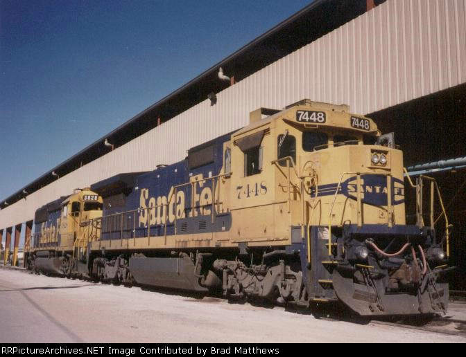 ATSF 7448 standing by