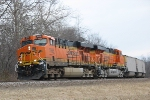 BNSF 5988 & 6138 leaning into the curve