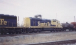 Fuzzy picture of ATSF 5978 entering Cherokee Yard