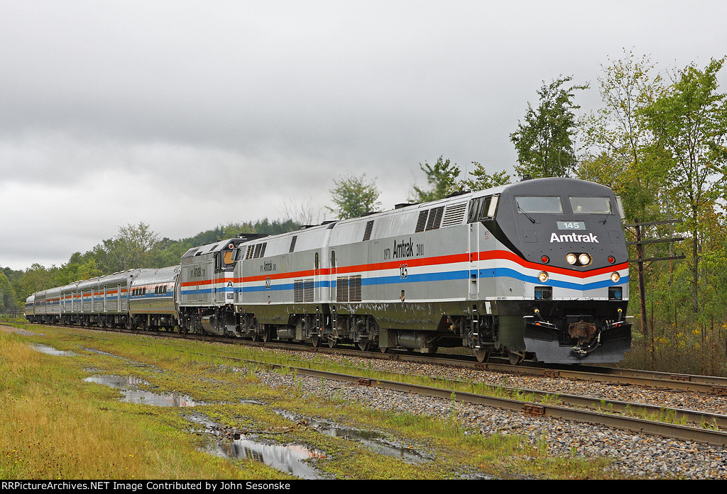 Amtrak 40th Anniversary Train, CP 01A-05, with 145-822-406