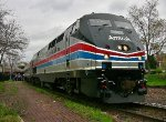 "AMTRAK #66 Phase II 40th Anniversary Locomotive Leading Westbound ""Missouri River Runner"" Through Kirkwood, MO"