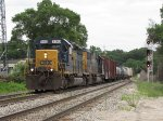 CSX 8150 & 8560 head west down Track 1 with Q335-27