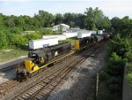 WAMX 4125 & 4124 arrive at Hughart Yard with GDLK303
