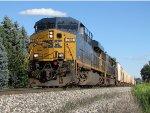 CSX 755 rolls west leading Q335-21
