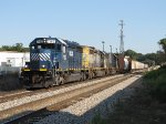 HLCX 7183 leads CSX 8106 & 2491 west on Track 1 with Q335-26