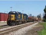 CSX 6414 & 2312 lead track equipment train W037-28 east