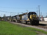 W047 rolls into town with CSX 8196 leading