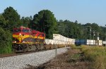 KCS 4690 leading 220 around the curve at Waco