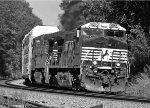 NS 9865 leading a rack train through Mableton