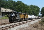 NS 7053 leads NS 187 west through Opelika