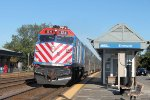 Metra F40PH 124 brings another trainload of commuters home for dinner