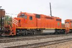 The orange color of this former(now CN) EJ&E SD40 sure stand out