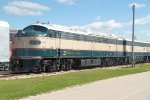 One of the more interesting pices is this 1956-built EMD E-9AM, from the BN executive fleet