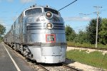 The onlyu known survivor of this model, this 1940-built EMD E-5A prepares to run excursions this day