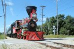Scratch built by the Kloke Locomotive Works in 1999, this beautiful 4-4-0 crosses Olson Rd on an excursion on Labor day, 2011