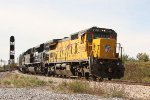 UP 9166, NS D32 working the Bement Yard