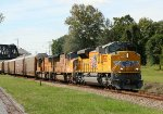 New UP SD70ACe #8682 Leads Two UP SD70Ms @ 1358 hrs