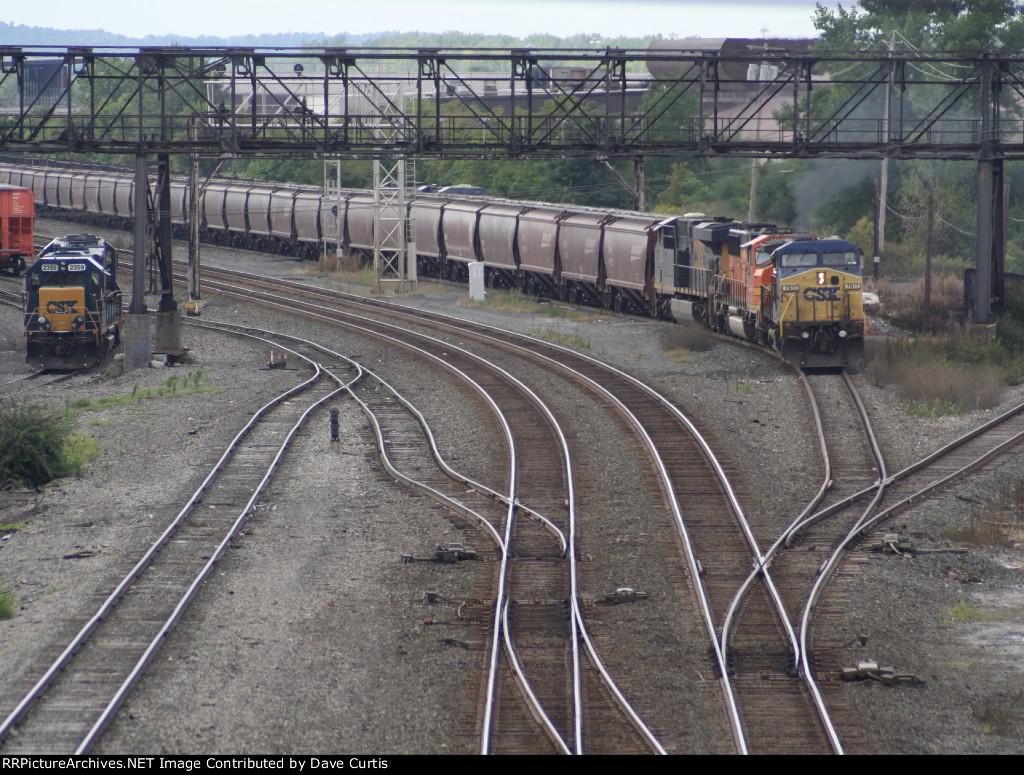 Grain train on the move