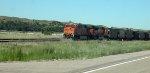BNSF 6192 in Nebraska Sandhills
