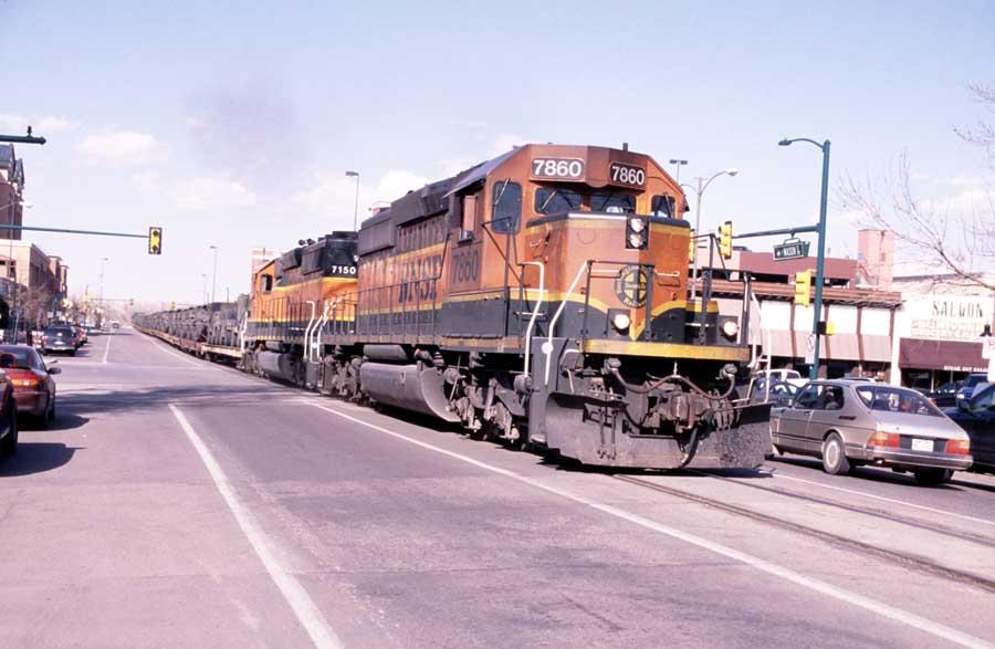 Street Running Fort Collins - BNSF 7860 East