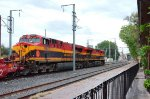 KCSM ES44AC Locomotives heading southbound