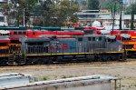 KCSM AC4400 Locomotive in the yard