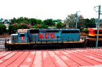 KCSM SD40-2 Locomotive with gray paint scheme