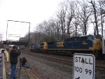 CSX 210 and 76 pulling the circus train