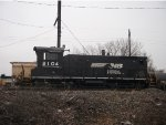 NS 2104 parked in Morrisville Yard