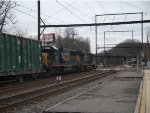 CSX 5439 and 8587 heading to Woodbourne Yard