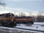 Train 412 meeting dumper job at Escanaba