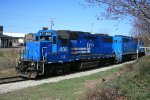 ELS 402 and 501 power for coal moves at the end of the line for Stone Container in Ontonagon