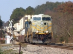 CSX 5246 pulling double stacks