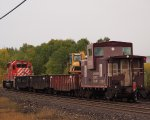 CPR work train at White River, Ontario, Canada.