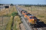 Grain train rolls eastbound