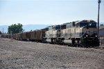 Loaded coal train enters yard